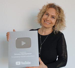 Simona Oberhammer targa Youtube 10ok