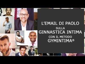 L'e-mail di Paolo sul metodo di Ginnastica Intima Gymintima®